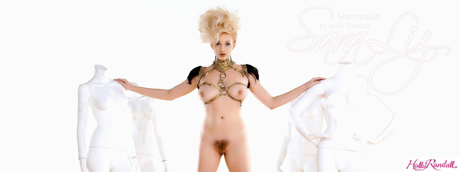 Iveta Sunshaded saraliz in mannequin